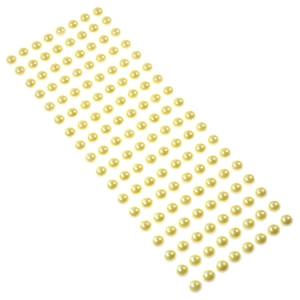 Perły samoprzylepne 10 mm, 144 szt. budyniowe