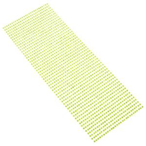 Perły samoprzylepne 3 mm, 1404 szt. jasny zielony