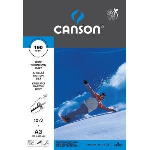 Blok techniczny biały CANSON A4 180 g 10 ark.