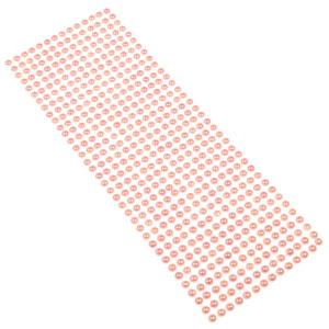 Perły samoprzylepne 6 mm, 504 szt. różowe