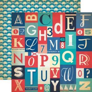 Papier Carta Bella - Yacht Club - Alphabet Letters