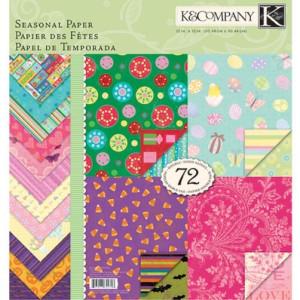 Zestaw papierów 30x30 K&Company - Seasonal Paper 72 ark.