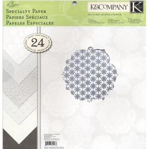 Zestaw papierów 30x30 K&Company - Elegance 24 ark.