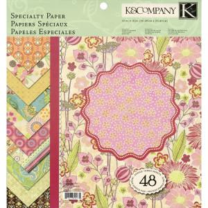 Zestaw papierów 30x30 K&Company - Pink Posey 48 ark.