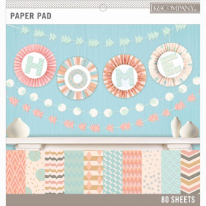 Zestaw papierów 30x30 K&Company - Pastels Color Basics 80 ark.