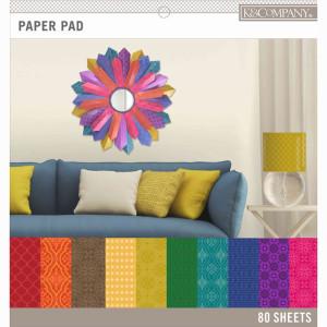 Zestaw papierów 30x30 K&Company - Dark Color Basics 80 ark.
