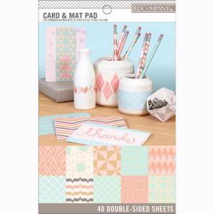 Zestaw papierów 12x16,5 K&Company - Pastels Card & Mat Pad 40 ark.
