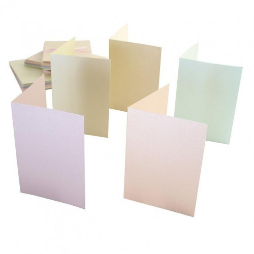 A6 Cards & Envelopes Set - Anita's - Pastel Pearlescent, 50 pcs