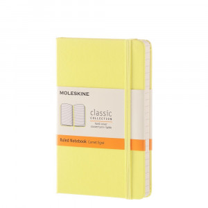 Notebook Moleskine Pocket Ruled Citron Yellow