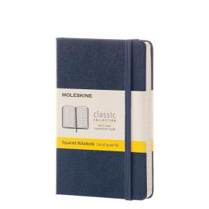 Notebook Moleskine Pocket Squared Sapphire Blue
