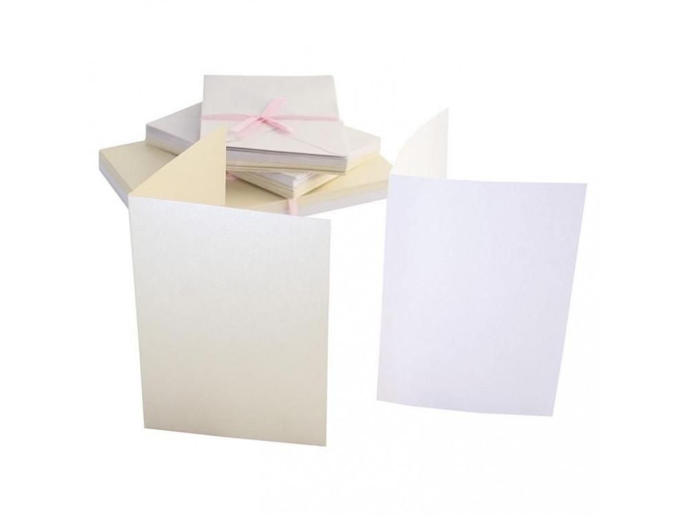 A6 Cards & Envelopes Set - Anita's - Pearlescent, 50 pcs