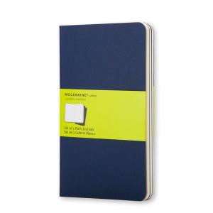Zestaw Notatników Moleskine - Plain Indigo Blue - Large 3 szt.