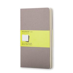 Zestaw Notatników Moleskine - Plain Pebble Grey - Large 3 szt.