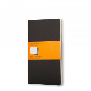 Cahier - Journal - Ruled Black - Pocket, 3 pcs