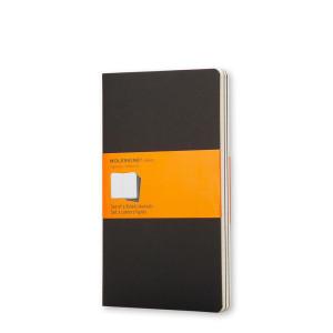 Zestaw Notatników Moleskine - Ruled Black - Pocket, 3 szt.
