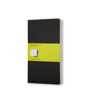 Zestaw Notatników Moleskine - Plain Black - Pocket, 3 szt.