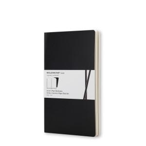 Zestaw Notatników Moleskine - Volant Ruled Black - Pocket, 2 szt.