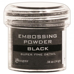 Puder do embossingu Ranger - Super Fine Black
