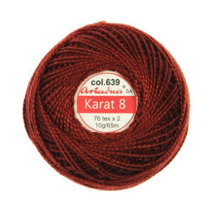 Kordonek Karat 8 - 76x2, 10 g - 65 m, 639