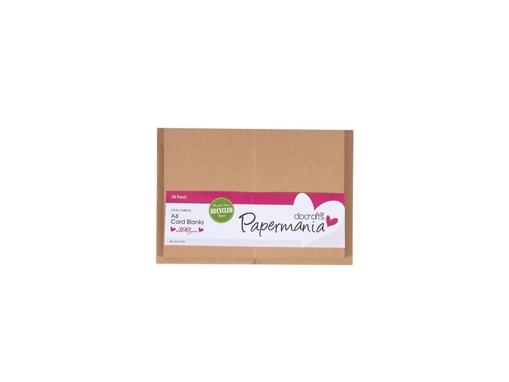 Zestaw kopert i kart A6 - Papermania - Recycled Kraft, 50 szt.