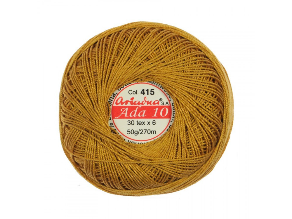 Cotton Embroidery Floss Ada 10 - 30x6, 50 g - 270 m, 415