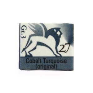 Watercolors in cubes - Renesans - 1,5 ml - Cobalt Turquoise