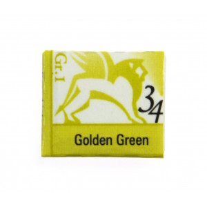Akwarele w kostkach - Renesans - 1,5 ml - Golden Green