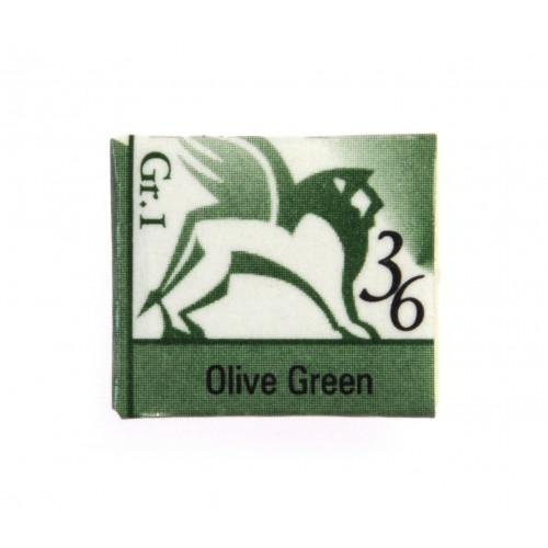 Akwarele w kostkach - Renesans - 1,5 ml - Olive Green