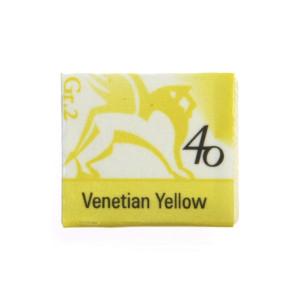 Watercolors in cubes - Renesans - 1,5 ml - Venetian Yellow