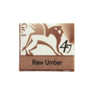 Watercolors in cubes - Renesans - 1,5 ml - Raw Umber