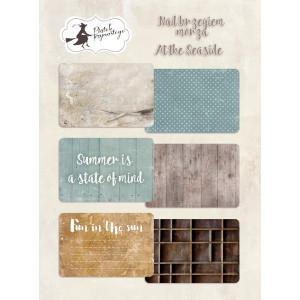 Zestaw karty do journalingu 10 x 15 cm - Piątek Trzynastego - Nad brzegiem morza