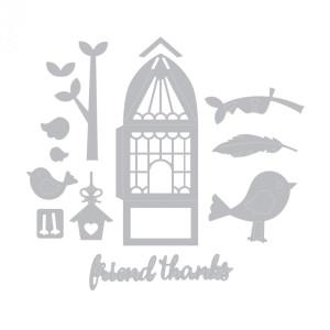 Sizzix Thinlits Die Set - Thinlits Die - For the Birds - 13 pc.