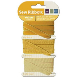Tasiemki We R - Sew Ribbon - Yellow