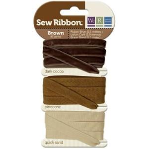 Tasiemki We R - Sew Ribbon - Brown
