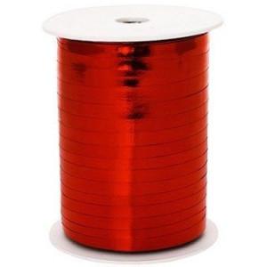 Wstążka metalizowana - 0,5 cm x 225 m - Czerwony