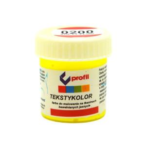Farba do tkanin jasnych 25 ml - Profil - żółty fluo 0200