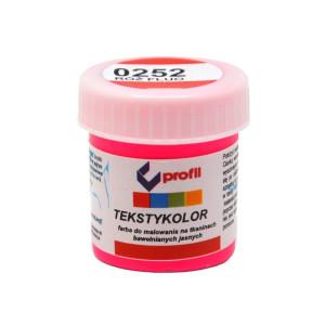 Farba do tkanin jasnych 25 ml - Profil - różowy fluo 0252