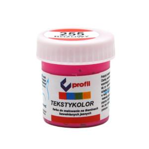 Farba do tkanin jasnych 25 ml - Profil - różowy 255