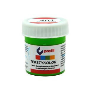 Farba do tkanin jasnych 25 ml - Profil - Zieleń jasna 401
