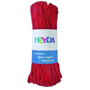 Rafia dekoracyjna 50 g - Heyda - czerwona
