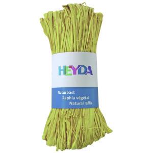 Rafia dekoracyjna 50 g - Heyda - cytryna