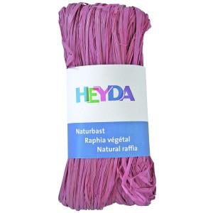 Rafia dekoracyjna 50 g - Heyda - różowa