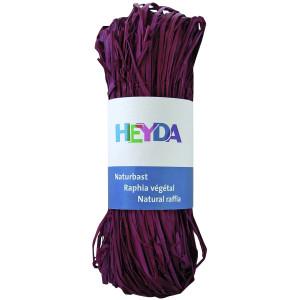 Rafia dekoracyjna 50 g - Heyda - Bordo