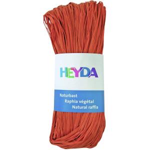 Rafia dekoracyjna 50 g - Heyda - pomarańczowa
