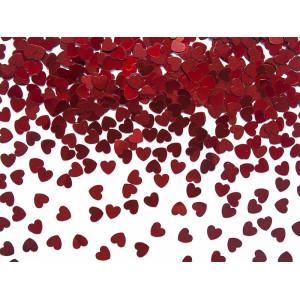 Konfetti - czerwone serca
