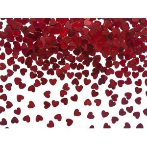 Konfetti czerwone serca 10mm 30g