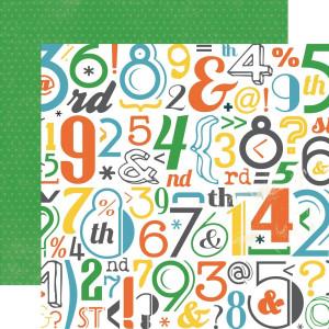 Papier Echo Park - Boy Cousins - Letters and Numbers