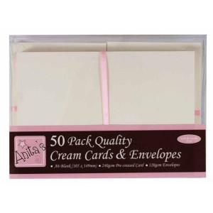 Zestaw kopert i kart kwadratowych Anita's - kremowe