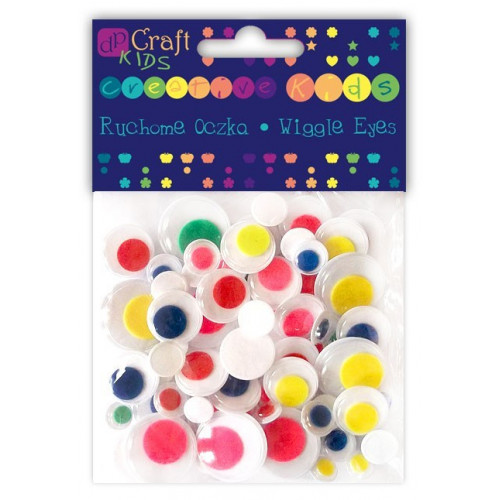 Colored wiggle eyes - DpCraft - colorful, 75 pcs.
