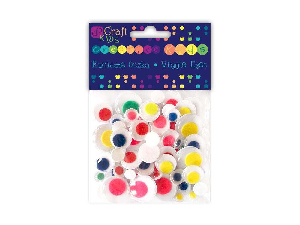 Ruchome oczka - DpCraft - kolorowe, 75 szt.